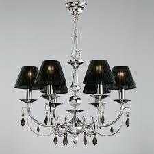 image of luxury black lamp shade chandelier