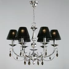 luxury black lamp shade chandelier