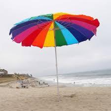 Image 240cm Umbrella Rainbow Beach Umbrella With Carry Bag With Sand Anchor Auger Walmartcom Walmart Impact Canopy Ft Rainbow Beach Umbrella With Carry Bag With Sand