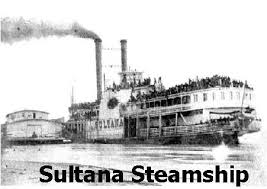 「1865, the steamboat Sultana course map」の画像検索結果