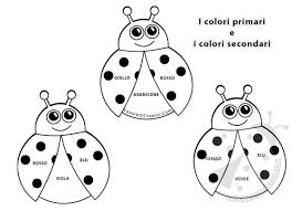 Coccinelle Con Colori Primari E Colori Secondari
