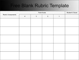 Blank Rubric Template - East.keywesthideaways.co