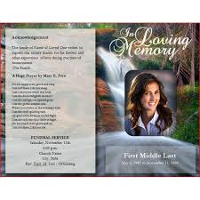 Funeral Program Word Template Stunning Downloadable Funeral Bulletin Covers Free Funeral Program Template