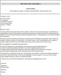 covering letter for bank sample bank teller cover letter 7 examples in word pdf