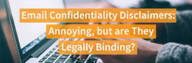 email confidentiality disclaimers