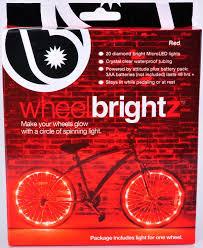 Orange Wheel Lights Wheel Brightz Bicycle Light Red Color Micro Led Led Light