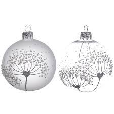 <b>Шары</b> новогодние <b>Kaemingk</b> стекло с цветком 8 см купить по ...