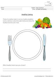 In this story jamal tries to help his friend aliyah make healthier food choices. Science Healthy Meal Worksheet Primaryleap Co Uk