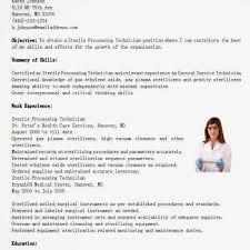 Sterile Processing Technician Resume Fancy Sterile Processing regarding  Central Sterile Processing Technician Resume