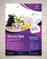 Spa Center Flyer Design Template With Different Treatments To Relaxing Vector Uxoui