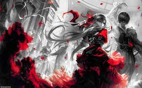 40+] Red and Black Anime Wallpaper on ...