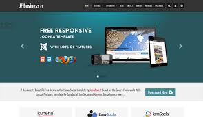 Jf Business Free Business Joomla Template Joomforest