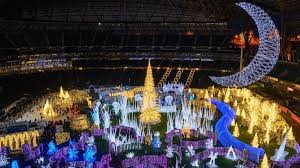 Christmas Lights Maze In Baseball Fields