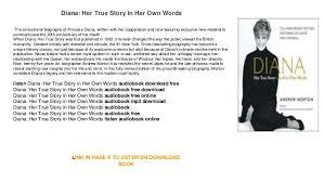 Diana Her True Story In Her Own Words Free Download Online Audiobook