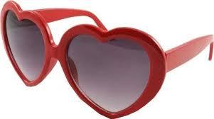 "<b>Heart Shaped</b> Retro ""Lolita"" Style Sunglasses - Lipstick Red ..."