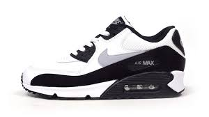 nike shoes air max black and white. mens nike air max 90 black / white gray running sneakers shoes and o