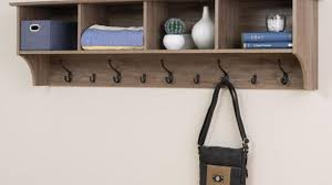 Wall Mounted Coat Rack Home Depot Wall Mounted Coat Racks With Shelf Amazing Manzanola 100 Drifted Gray 40