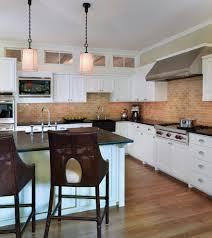 Red Brick Flooring Kitchen Red Brick Backsplash Kitchen Rustic With Apron Sink Brick Kitchen