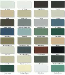 Aluminum Siding Colors Chart Aluminum Siding Color Chart Www Bedowntowndaytona Com