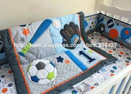 circo bedding set 8 baby crib bedding sets baseball sports baby boy sports crib bedding sets baby bed cot sheet in bedding sets from mother kids on circo
