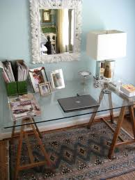 because it s ridiculously er and not that difficult matters of style ikea diy brass sawhorse desks cute workspace