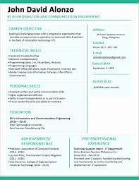 One Page Resume Example Stunning One Page Resume Template Lovely 48 Page Resume Example Examples Of