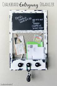 supplies needed to make your own chalkboard diy organizer