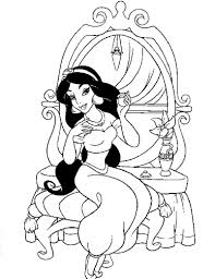 Disney Princess Jasmine Printable Coloring Pages From The Thousand