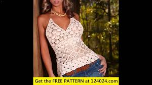 Free Crochet Halter Top Pattern Simple Free Crochet Halter Top Patterns YouTube