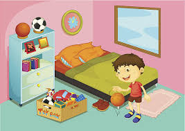 kids bed clipart. Delighful Clipart Royalty Free Kids Bedroom Clip Art On Bed Clipart D