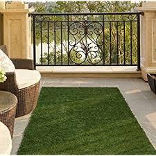 Amazoncom Ottomanson Garden Grass Collection IndoorOutdoor