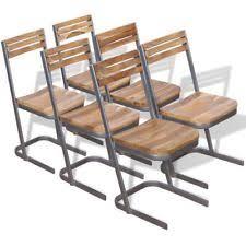 vidaxl dining chairs 6 pcs solid teak wood