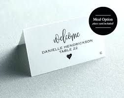Place Cards Template Wedding 6 Per Sheet Printable Word Card