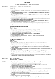 Community Outreach Resume Sample Outreach Coordinator Resume Samples Velvet Jobs 2