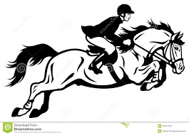 horse riding clipart black and white. Unique Riding Rider Show Jumping Throughout Horse Riding Clipart Black And White Dreamstimecom