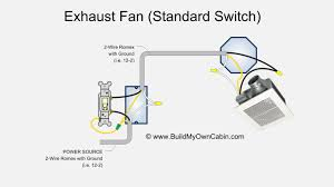 exhaust fan wiring diagram 1 exhaust fan wiring diagram (single switch) on exhaust fan wiring diagram