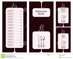 Menu Card Template Stock Vector Illustration Of Cafe 18899959