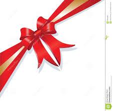Red Ribbon Design Vector Christmas Gift Ribbon Design Stock Vector