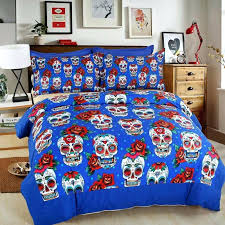 bedding personalized sugar skull bedding set duvet cover pillowcase bed sheets twin full queen king