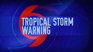 Tropical storm warning posted for parts ...