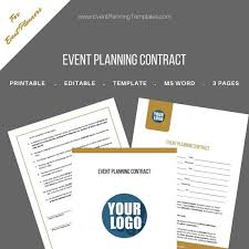 Event Planner Contract Stunning Event Planning Contract For Event And Wedding Planners Etsy