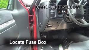 interior fuse box location chevrolet blazer  interior fuse box location 1998 2005 chevrolet blazer 2002 chevrolet blazer ls 4 3l v6 4 door
