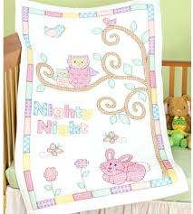 Cross Stitch Baby Quilts – co-nnect.me & ... Owl And Friends Crib Quilt Top Stamped Cross Stitch Kit Bucilla Cross  Stitch Baby Blankets Stamped ... Adamdwight.com