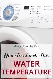laundry basics choosing water
