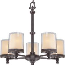 decker bronze 5 light chandelier glass shades 25 wx23 h