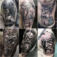 скандинавские тату тату один тату викингов бог один тату