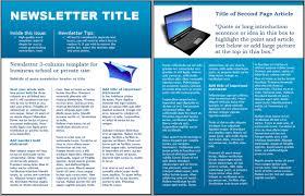 Microsoft Word Newsletter Newsletter Templates Microsoft Word Worddraw Technology Business