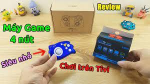 Review máy game điện tử 4 nút cầm tay siêu nhỏ chơi trên tivi - Mã giảm giá  - Săn hàng giá rẻ