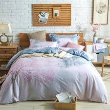 cotton queen king size bedding set cherry blossoms pink flower bed sheet blossom comforter bath and