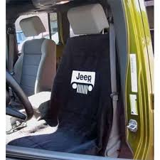 seat armour seat cover black with white jeep grille logo